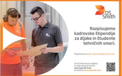 DS Smith Slovenija podeljuje kadrovske štipendije